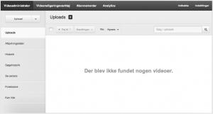 Sådan ser You Tubes Video administrator ud